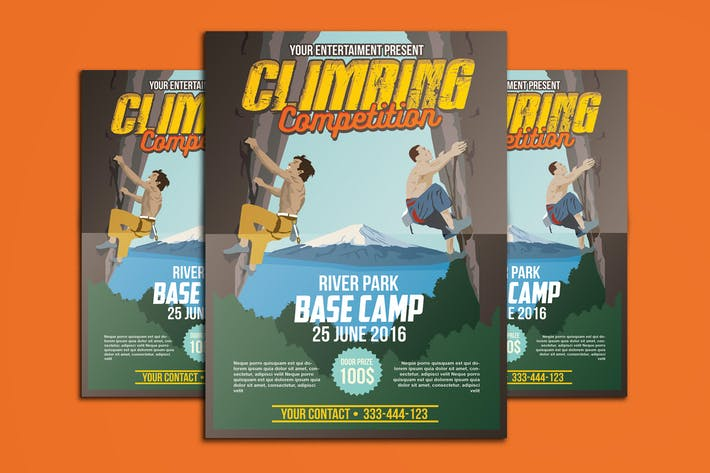 Thumbnail for Climbing Competition Poster Flyer