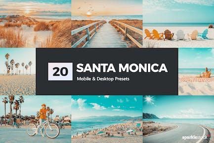 20 Santa Monica Lightroom Presets and LUTs