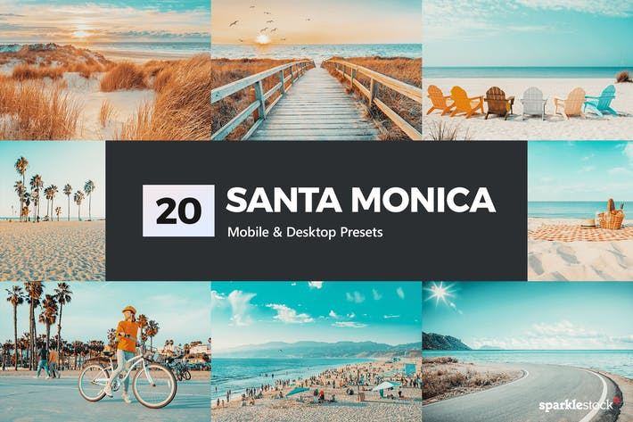 Thumbnail for 20 Santa Monica Lightroom Presets and LUTs