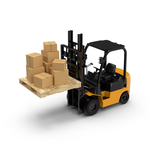 Forklift Pallet and Boxes