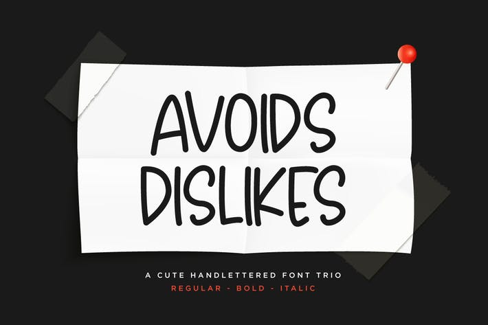 Evita dislikes - 3 fuentes manuscritas