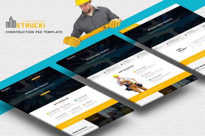 Thumbnail for Strucki - Construction PSD Template