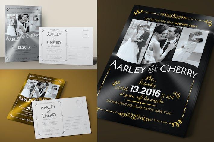 Thumbnail for Elegant Post Card Wedding Invitation