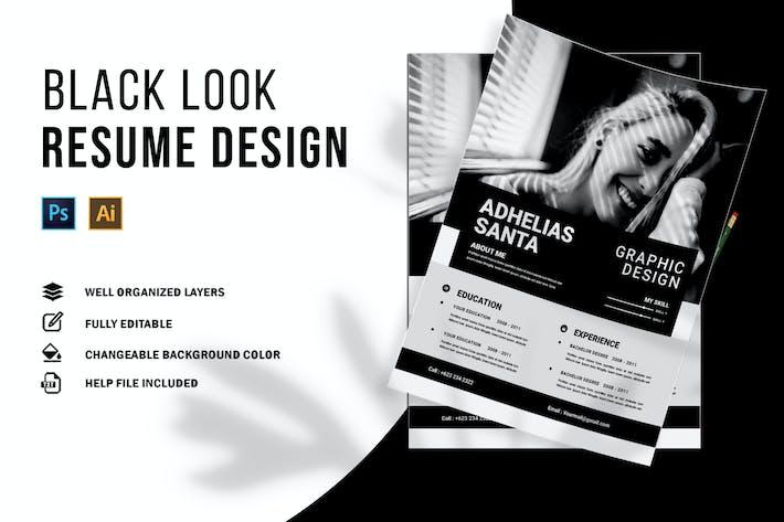 Thumbnail for Black Look | CV & Resume