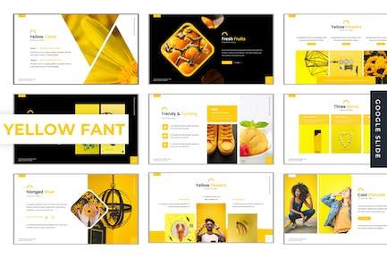 Желтая фантазия - Google слайд Шаблон