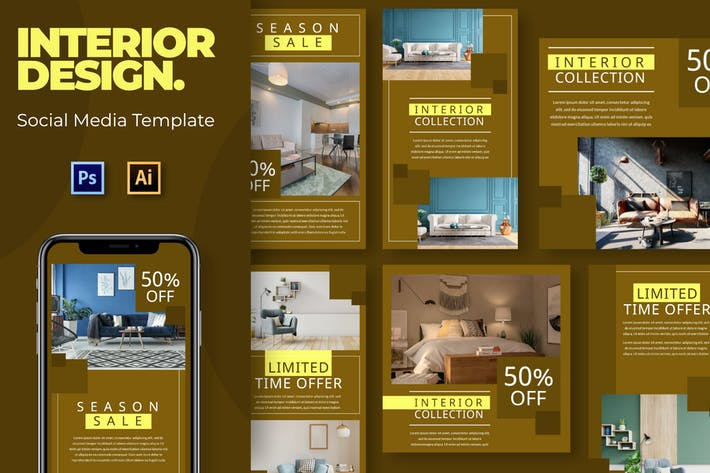 Thumbnail for Interior Sale Social Media Template