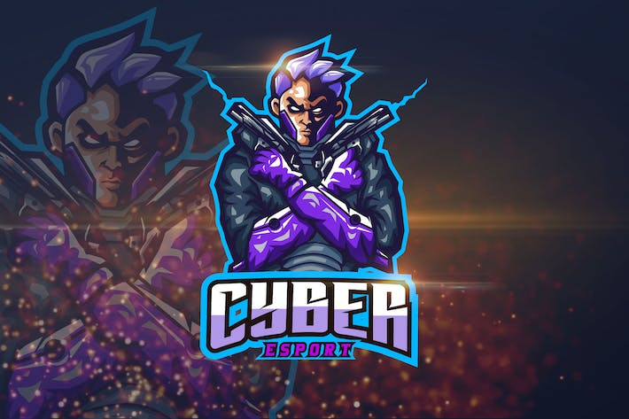 Thumbnail for Cyber - Shooter eSport Logo Template