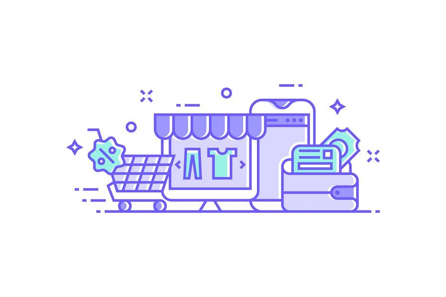 Online shopping Concept Illustration