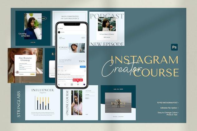 Instagram Creator Course Post Template
