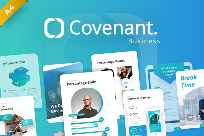 Thumbnail for Covenant Portrait Business PowerPoint Template