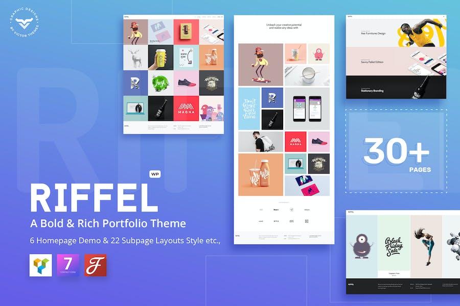Riffel - A Bold & Rich Portfolio Theme