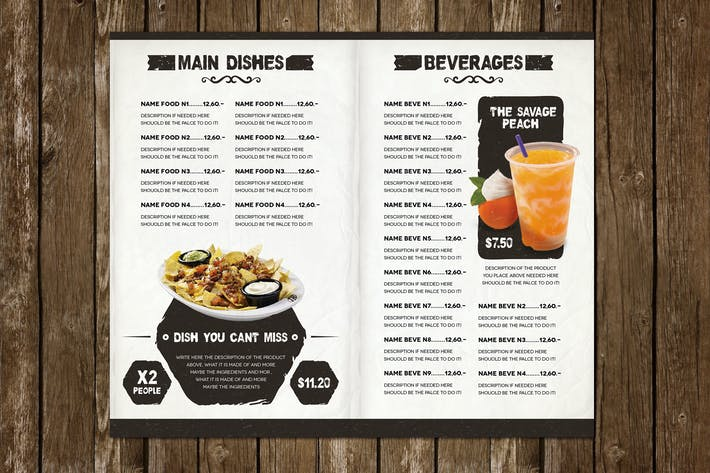 Thumbnail for The Ristorante Food Menu Illustrator Template
