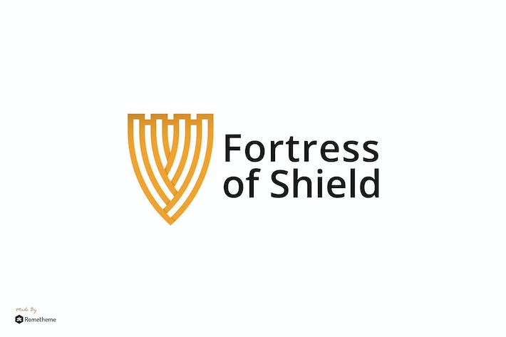 Thumbnail for Fortress of Shield - Logo Template RB