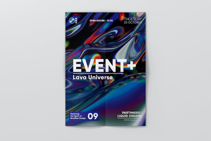 Thumbnail for Event Abstract Flyer Template