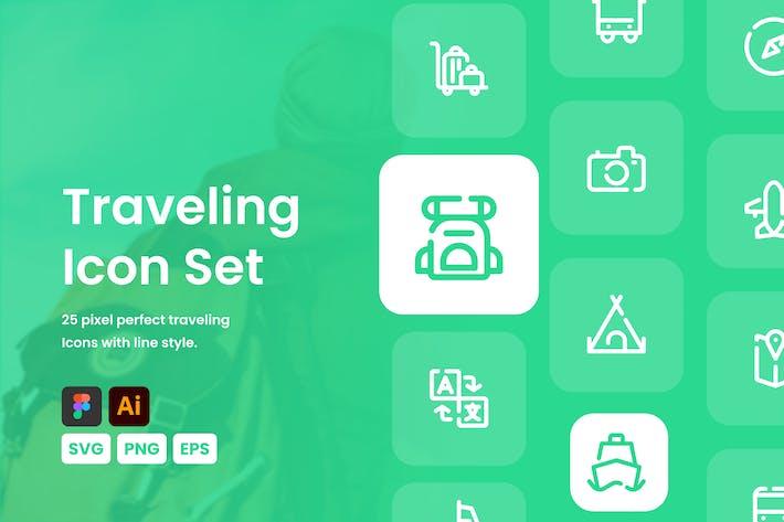 Thumbnail for Traveling Icon Set