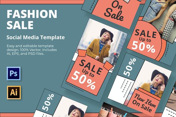 Thumbnail for Mode Verkauf Social-Media-Vorlage