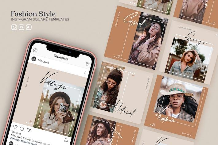 Thumbnail for Modèles carrés Instagram Style de mode