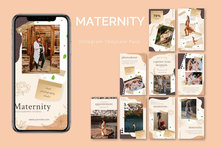 Thumbnail for Materinity - Instagram Template Pack