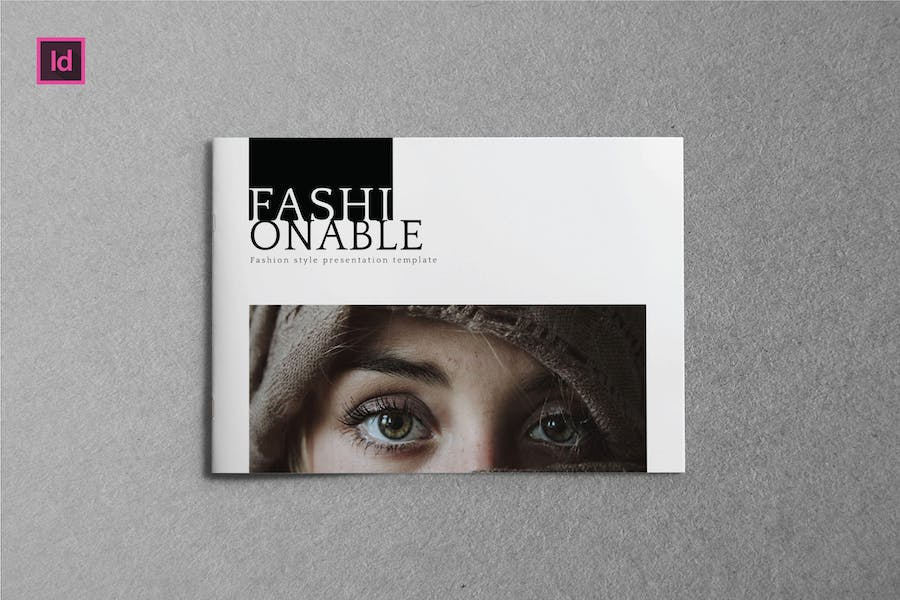 FASHIONABLE - A5 Landscape Magazine template