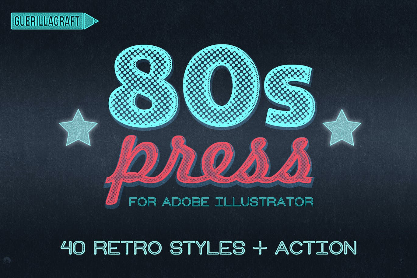 80's Retro Poster Photoshop Action by IndWorks on Envato