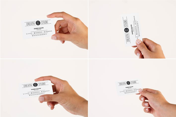 Thumbnail for Hand Business Card Mock Up Vol 08