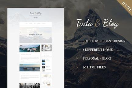 Tada & Blog - Persönlicher Blog HTML Thema