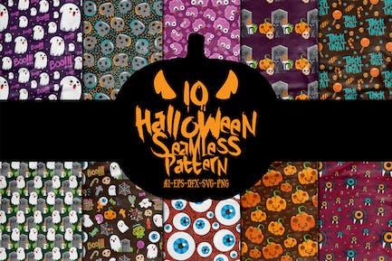 10 Halloween Seamless Patterns Vol. 2