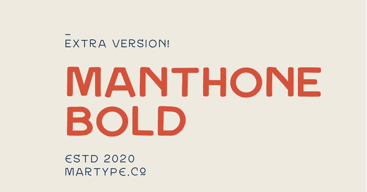 Download Manthone Bold by MartypeCo