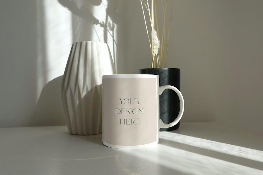 White mug mockup Au naturel 01
