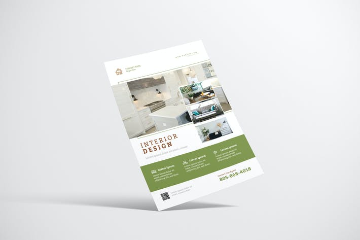 Property Flyer Design with Green Color