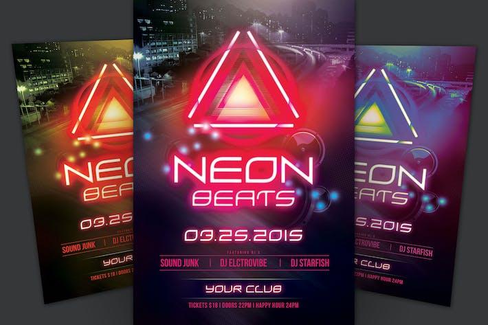 Thumbnail for Neon Beats Flyer