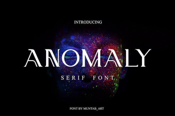 Thumbnail for Anomalía | Fuente Con serifa moderna