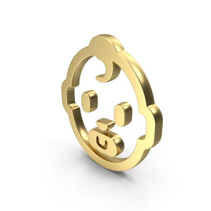 Baby Care Gesicht Logo Symbol