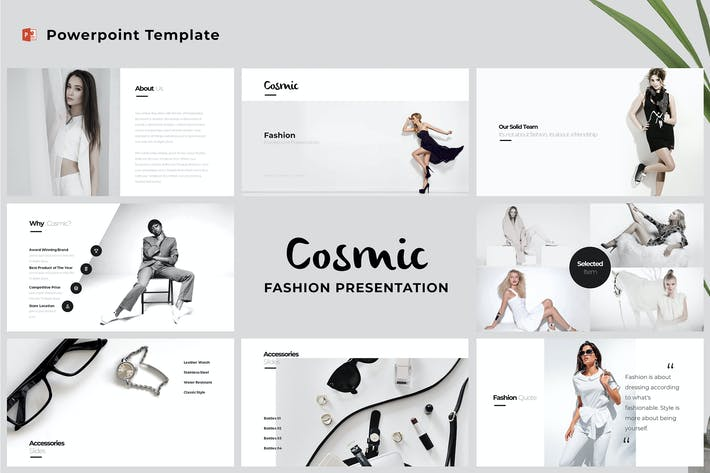 Thumbnail for Cosmic - Fashion Powerpoint Template