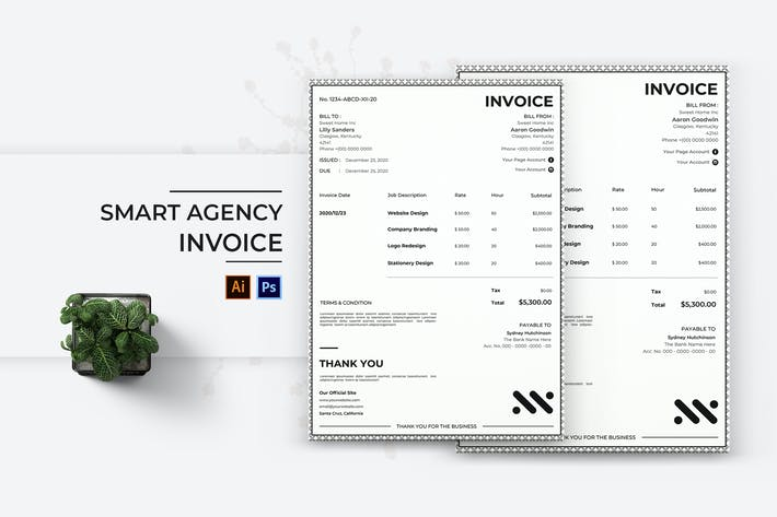 Thumbnail for Smart Agency Invoice
