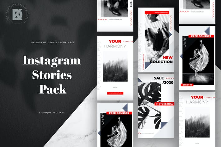 Thumbnail for Simple Red Instagram Stories