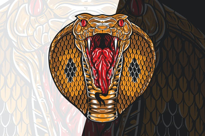 Thumbnail for Wütender König Kobra Kopf