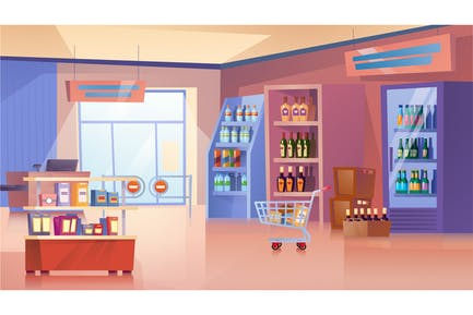 Grocery store  - Illustration Background