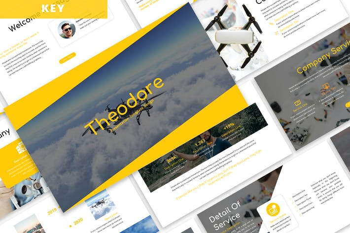 Thumbnail for Theodore - Business Keynote Template