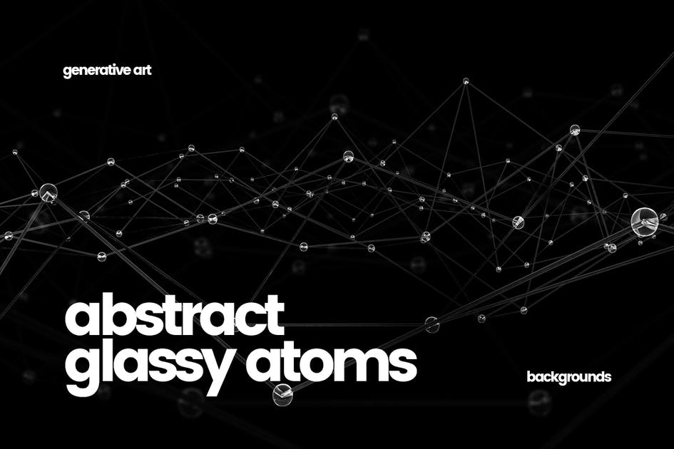 Download Abstract Glassy Atoms Backgrounds by themefire