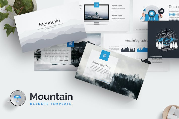 Thumbnail for Mountain Keynote Template