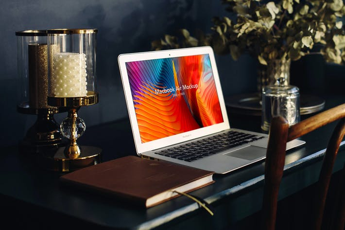 Cover Image For Macbook Mockups - Home Office Vol 03