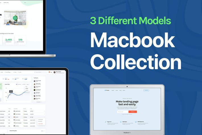 Thumbnail for Apple Macbook Mockup Collection