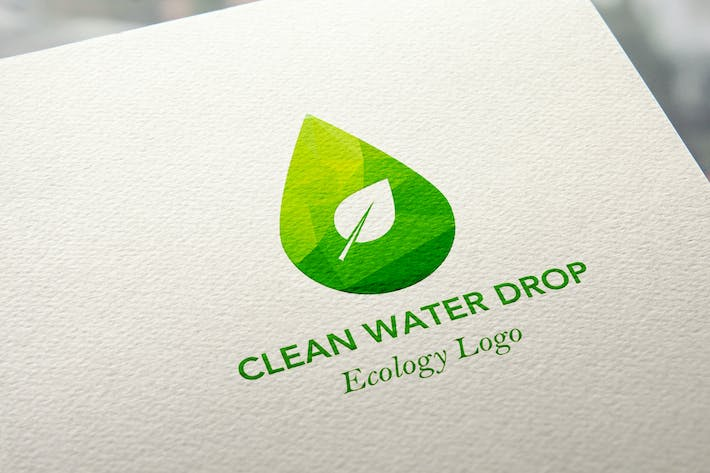 Thumbnail for Ecology Water Drop Logo