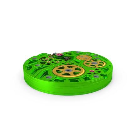 Mecanismo de reloj verde