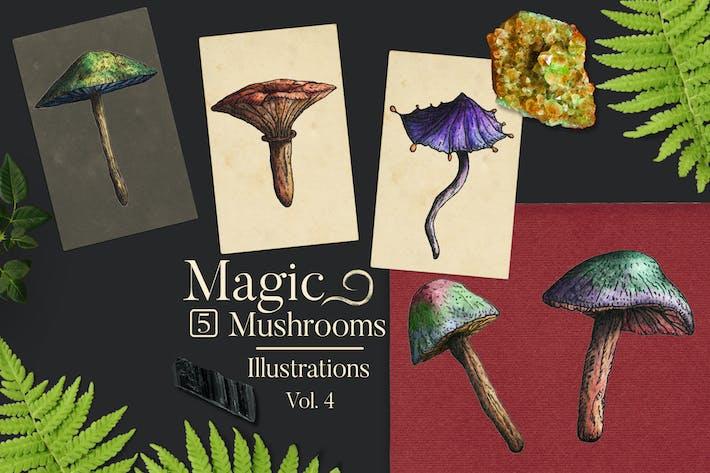 Thumbnail for Magic Mushrooms Illustrations 4