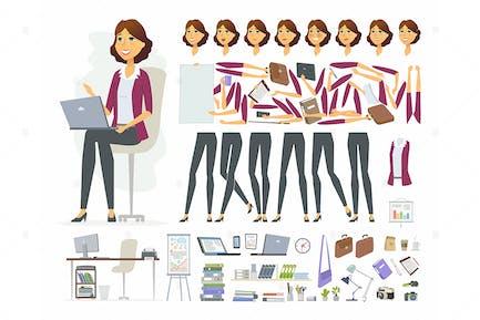 Businesswoman - Zeichen-Konstruktor