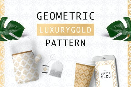 Geometrisches Luxus-Gold-Muster