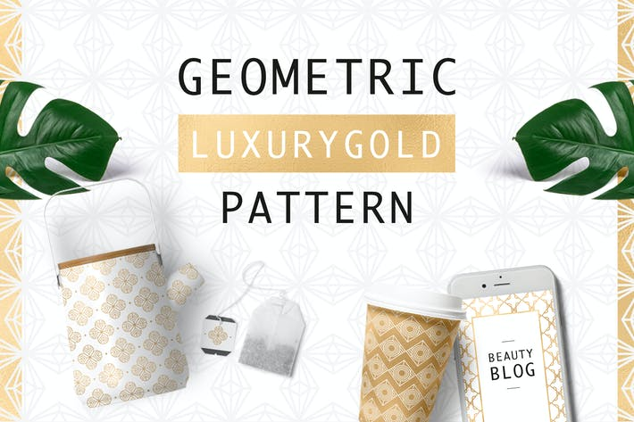 Thumbnail for Geometric Luxurygold Pattern