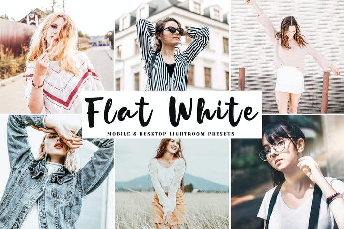 Thumbnail for Flat White Mobile & Desktop Lightroom Presets